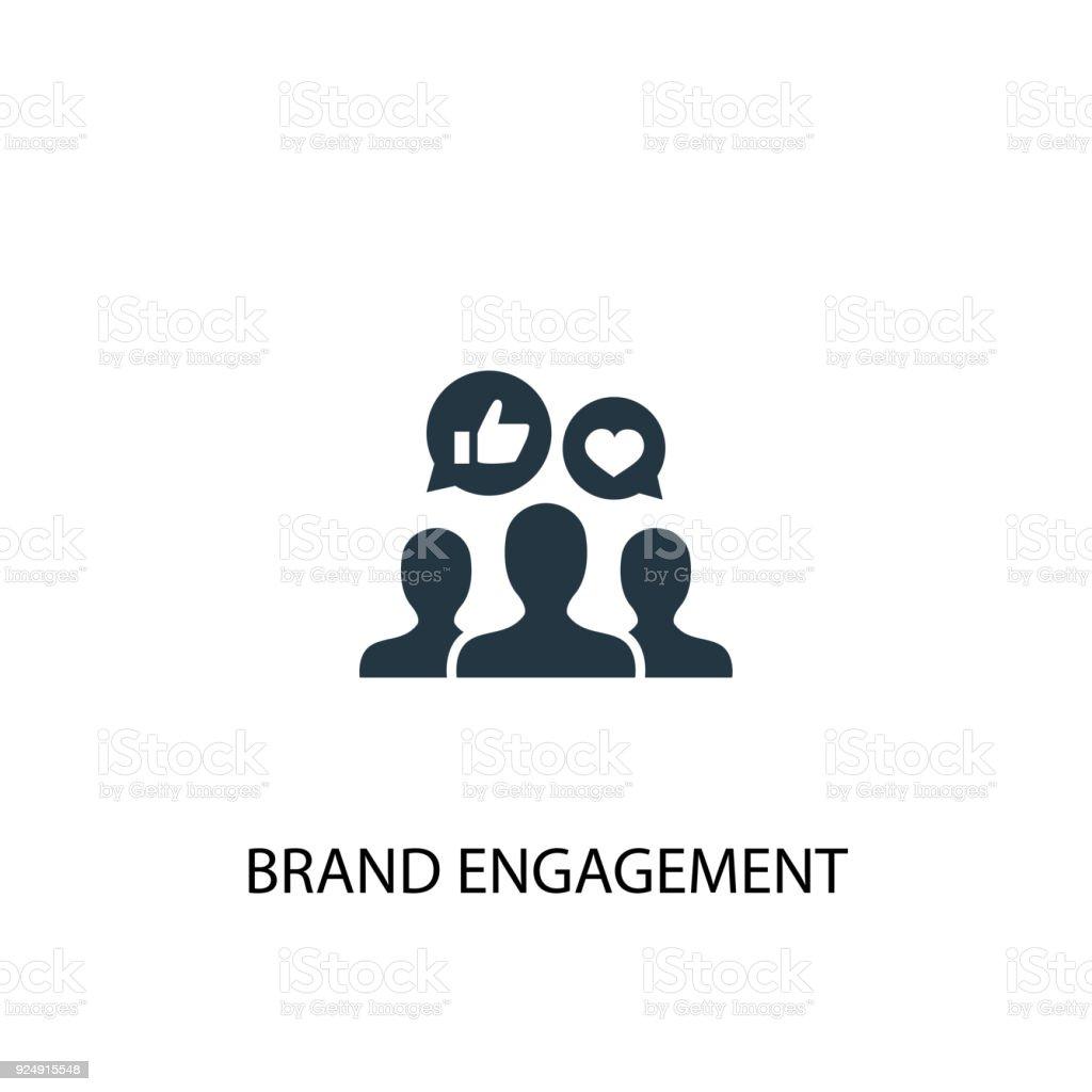 Símbolo del compromiso de marca. Ilustración de elemento simple - ilustración de arte vectorial