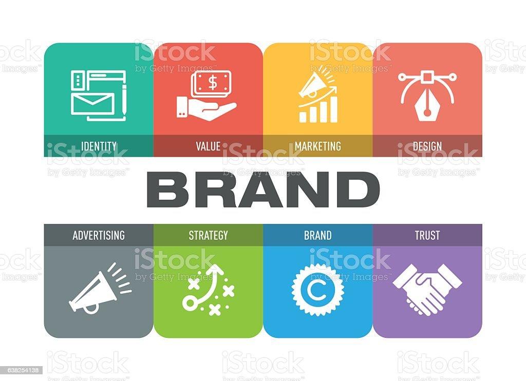 Brand Icon Set vector art illustration