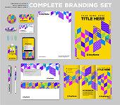 Corporate brand identity template set