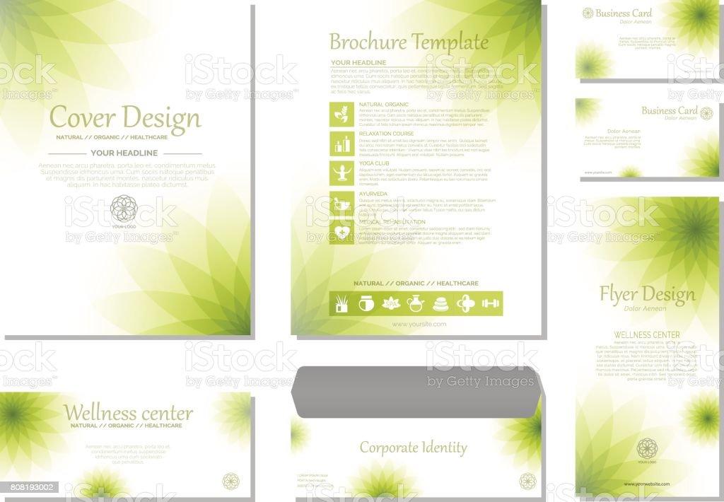 Conjunto de plantillas de identidad de marca - ilustración de arte vectorial