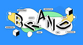 istock Brand Isometric Banner Design 1267213211