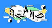 Brand Isometric Banner Design