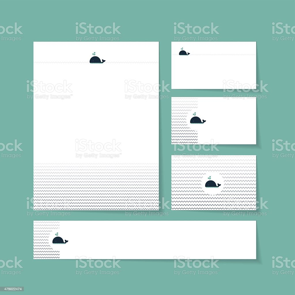 Marke Briefkopf Vorlage Vektor Illustration 475022474 | iStock