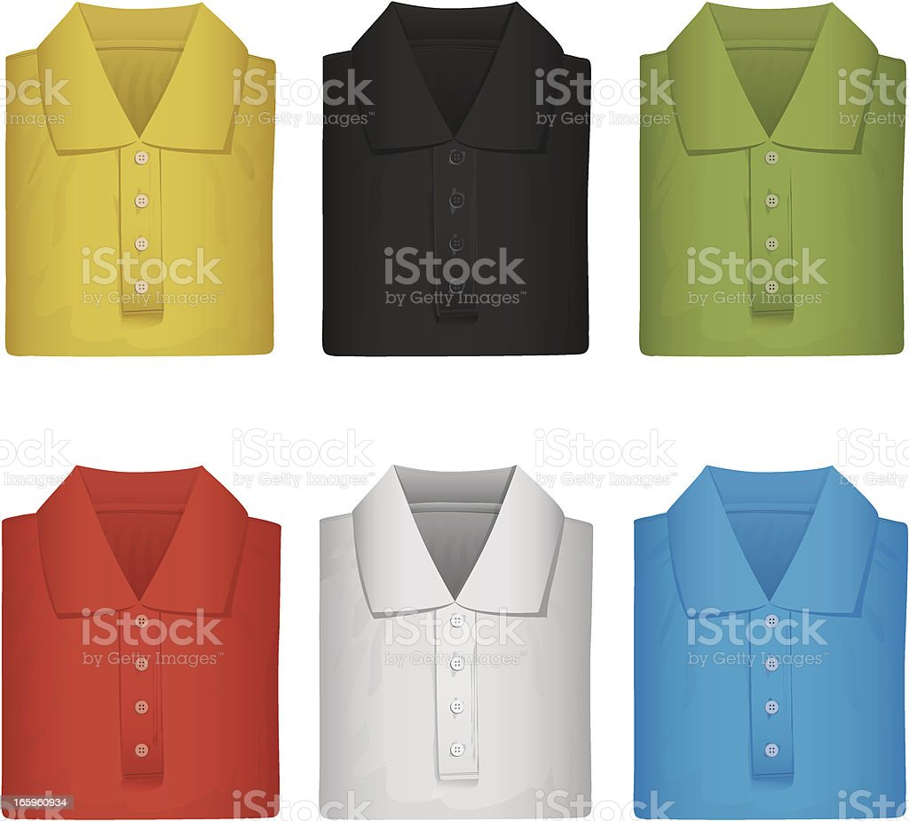 brand new colorful polo shirts royalty-free stock vector art