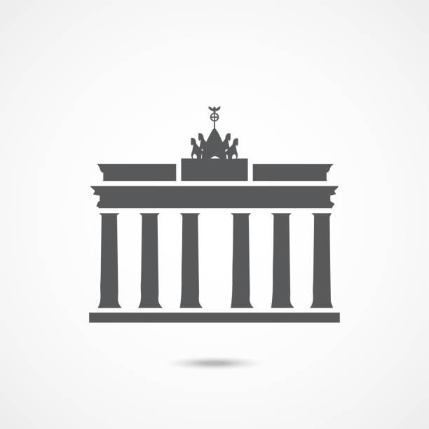 브란덴부르크 게이트 아이콘 - 베를린 stock illustrations