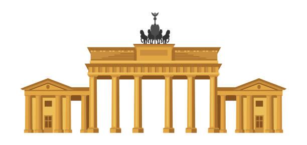 ilustrações de stock, clip art, desenhos animados e ícones de brandenburg gate in berlin. - berlin wall