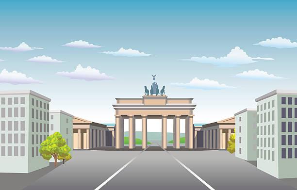ilustrações de stock, clip art, desenhos animados e ícones de brandenburg gate of germany. - berlin wall
