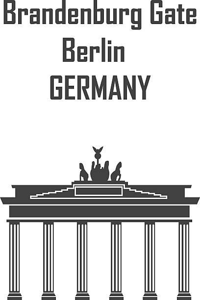 ilustrações de stock, clip art, desenhos animados e ícones de portão de brandemburgo-o símbolo de berlim, alemanha-ilustração - berlin wall