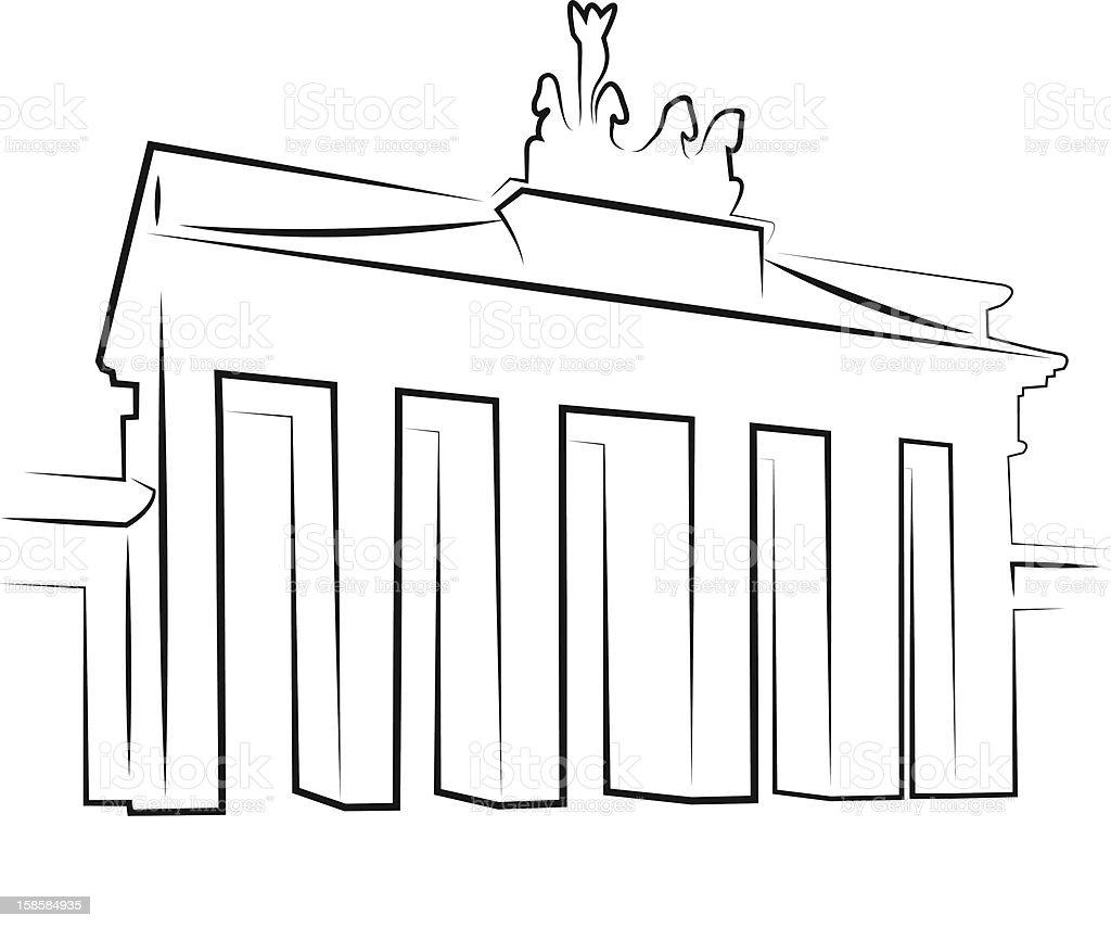 Brandenburg Gate royalty-free stock vector art