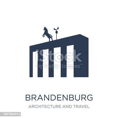 Brandenburg icon. Trendy flat vector Brandenburg icon on white background from Architecture and Travel collection, vector illustration can be use for web and mobile, eps10