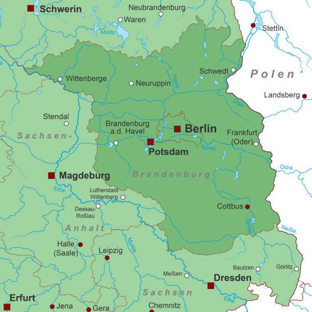 brandenburg_landkarte_gruen_1_schrift – Vektorgrafik
