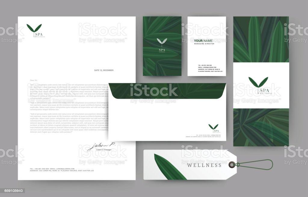 074 - hoja verde de la marca - ilustración de arte vectorial