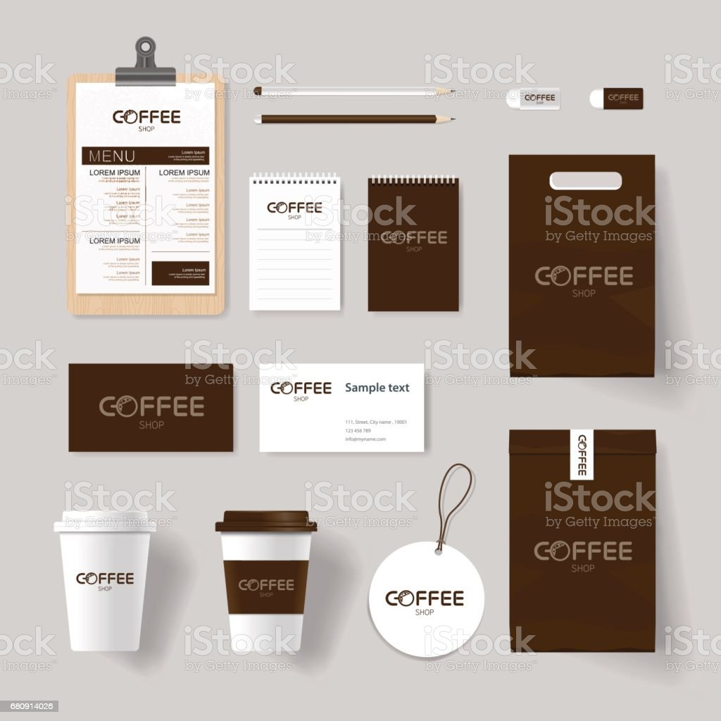 Branding identity for coffee shop and restaurant mock up template branding identity for coffee shop and restaurant mock up template with coffee icon design royalty maxwellsz