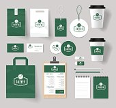 branding identity mock up template for coffee shop and restaurant