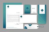 Branding identity template corporate company design, Set for bus