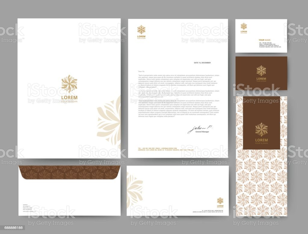 Branding identity template corporate company design, Set for business hotel, resort, spa, luxury premium logo, vector illustration vector art illustration