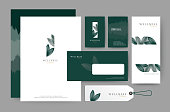 Branding identity template corporate company design, Set for business hotel, resort, spa, luxury premium, vector illustration
