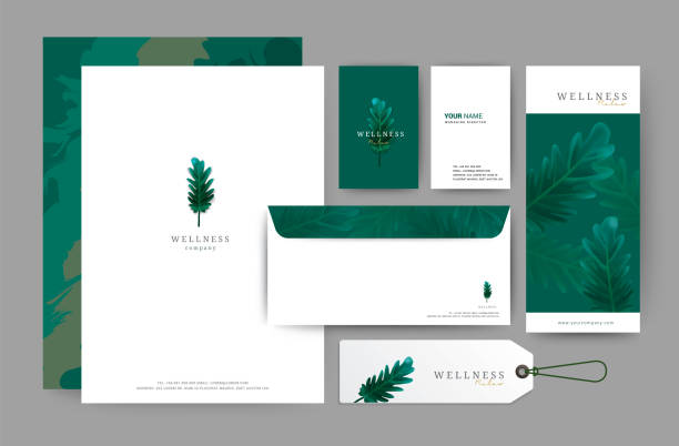 branding identity template corporate company design, set for business hotel, resort, spa, luxury premium icon,  , vector illustration - business cards templates stock illustrations