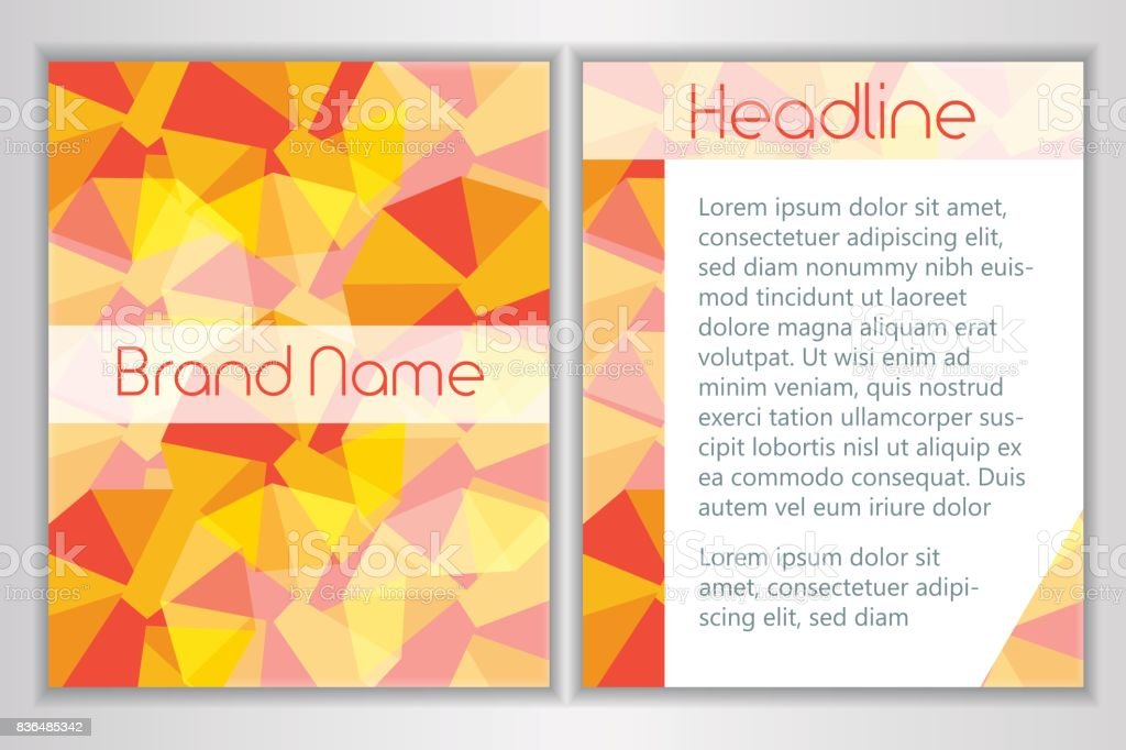 6e03d7f713d Modèle d identité avec la conception abstraite d entreprise société de  marque. Lieu