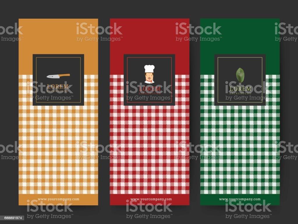 Branding Package food Dessert background, icon,  banner voucher, menu, vector illustration