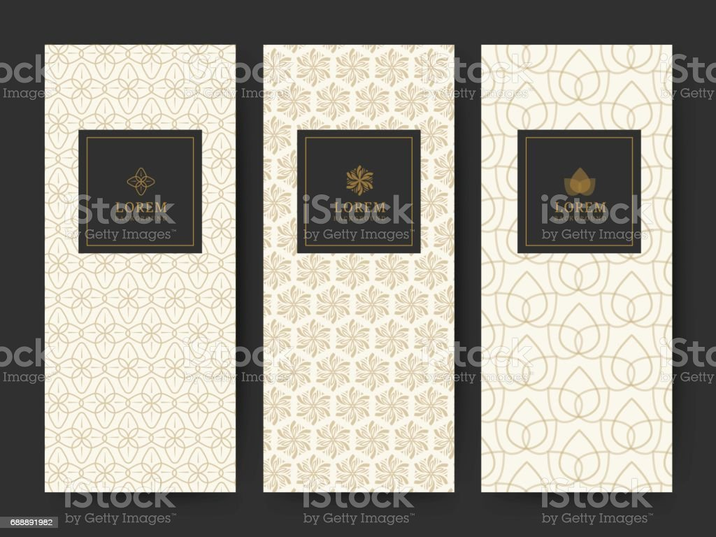 Branding Package pattern nature background, icon,  banner voucher, spring summer tropical, vector illustration vector art illustration