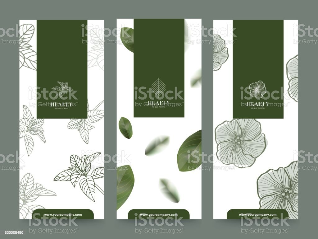 Branding Packageing Flower nature background, banner voucher, spring summer tropical, vector illustration vector art illustration