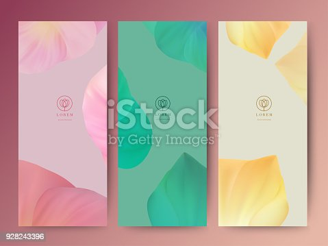 istock Branding Packageing leaf nature background, banner voucher, spring summer tropical, vector illustration 928243396
