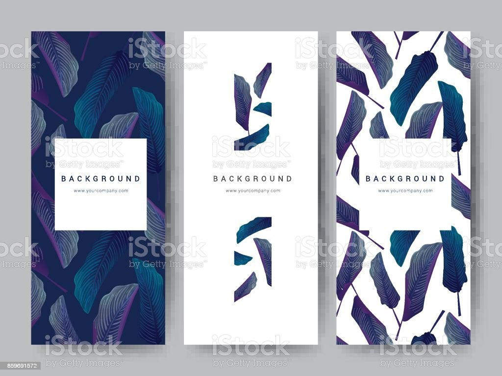 Branding Packageing leaf nature background, logo banner voucher, spring summer tropical, vector illustration vector art illustration