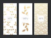 Branding Packageing leaf nature background, symbol banner voucher, spring summer tropical, vector illustration