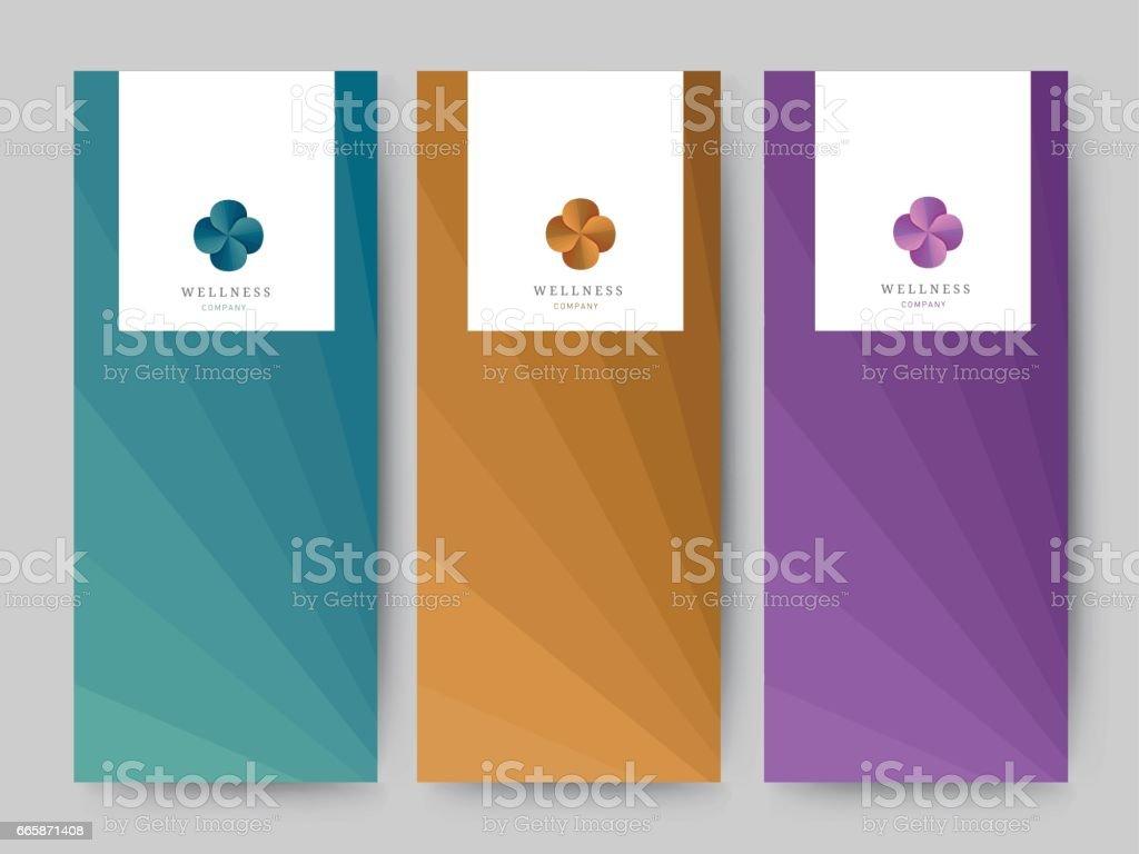 Marca antecedentes de empaquetado, vale de banner logotipo, ilustración vectorial - ilustración de arte vectorial