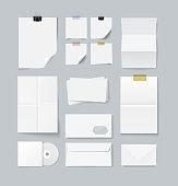 Branding set of paper templates