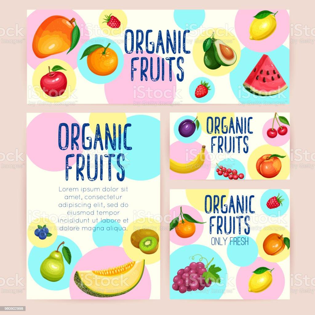 Branding Vorlage Früchte Stock Vektor Art und mehr Bilder von ...