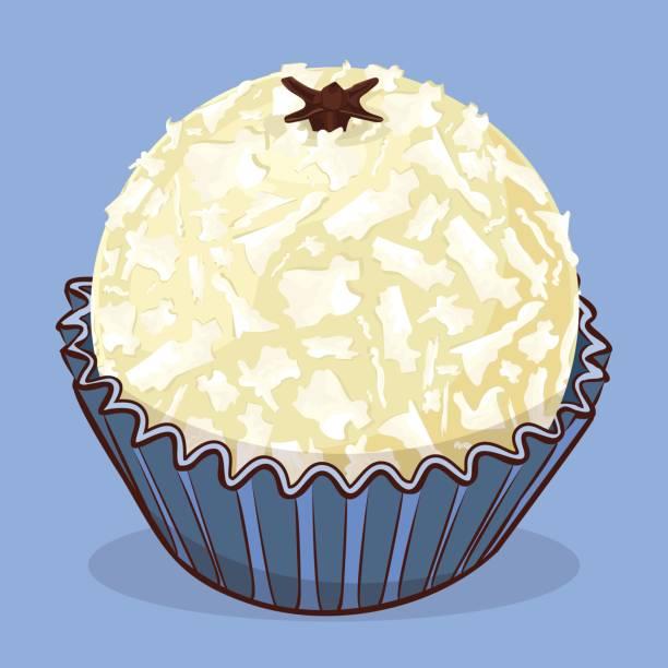 Branquinho - Brazilian sweet - Birthday sweet Traditional Brazilian dessert leite stock illustrations
