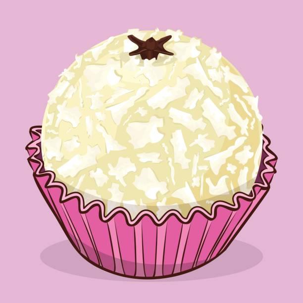 ilustrações, clipart, desenhos animados e ícones de branquinho - brasileiro doce - doce de aniversário - brigadeiro
