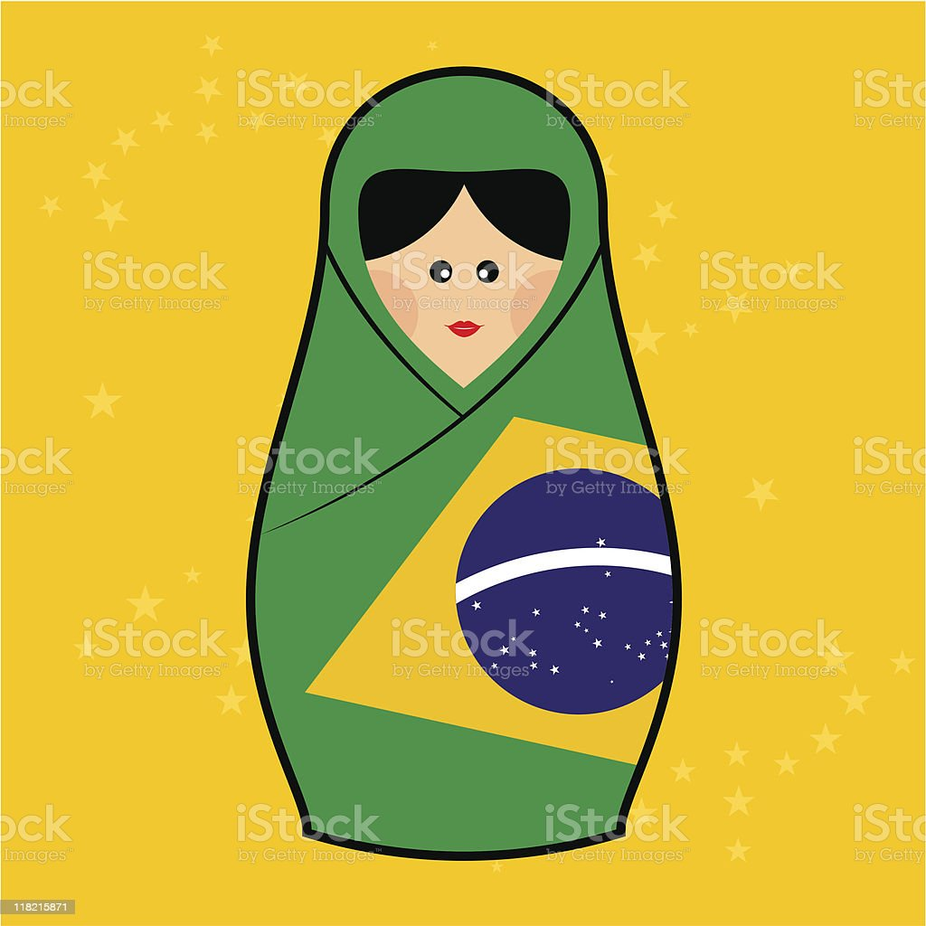 Brasil - Matryoshka doll royalty-free stock vector art