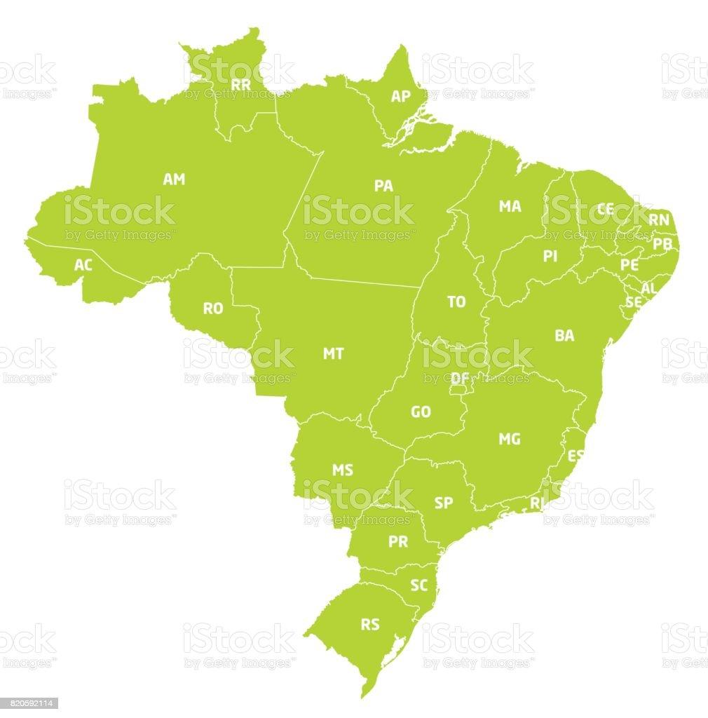 Brasil Político vector art illustration