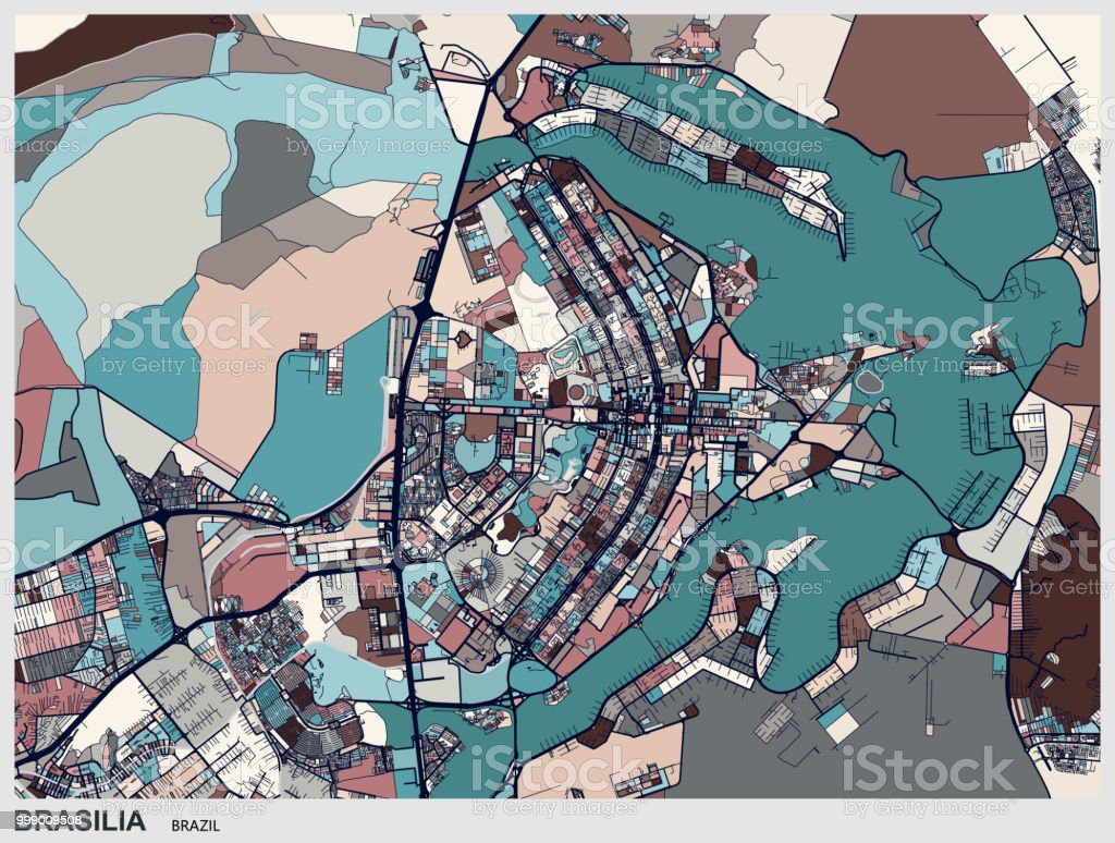 Picture of: Brasilia Art Map Stock Illustration Download Image Now Istock