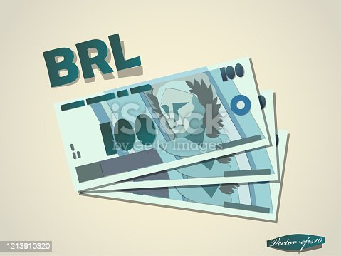 istock brasilian reals  money paper vector design 1213910320