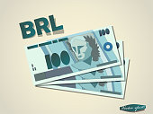 istock brasilian reals  money paper vector design 1213910320