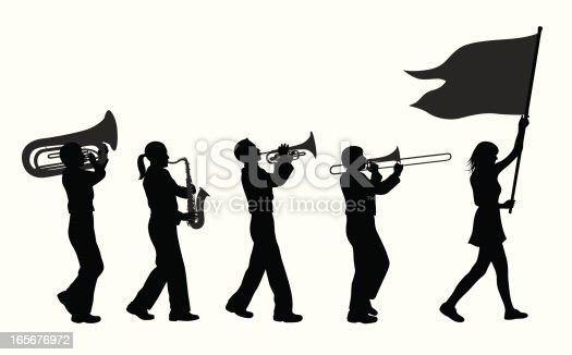 Brass Band Vector Silhouette Stock Vector Art & More ...