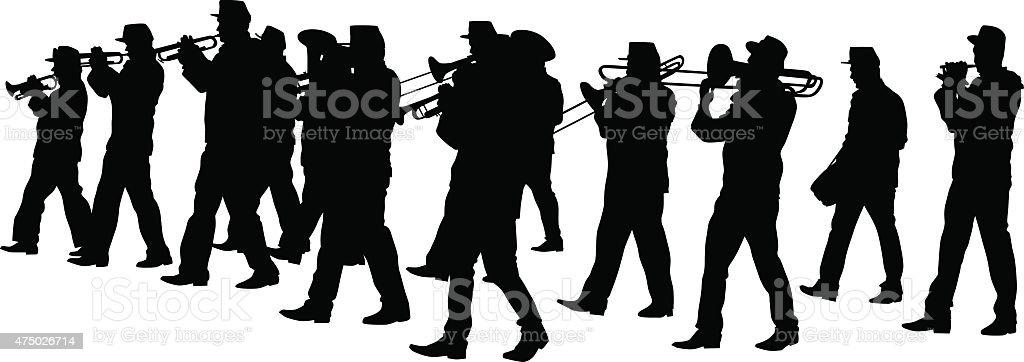 Brass instrument vector art illustration