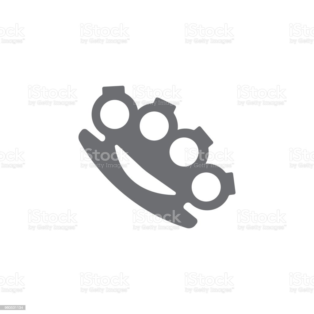brass knuckles icon. Simple element illustration. brass knuckles symbol design template. Can be used for web and mobile vector art illustration