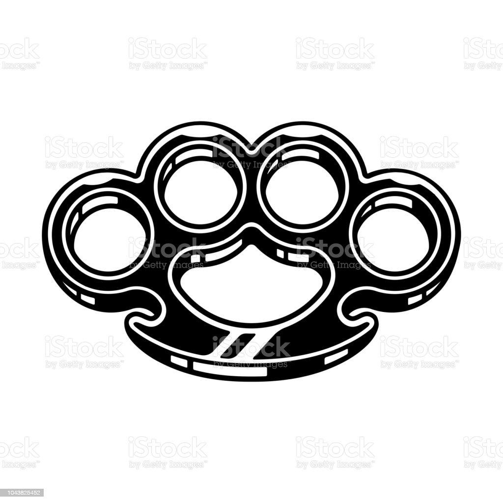 Brass knuckles illustration vector art illustration