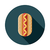 Bratwurst Flat Design Germany Icon