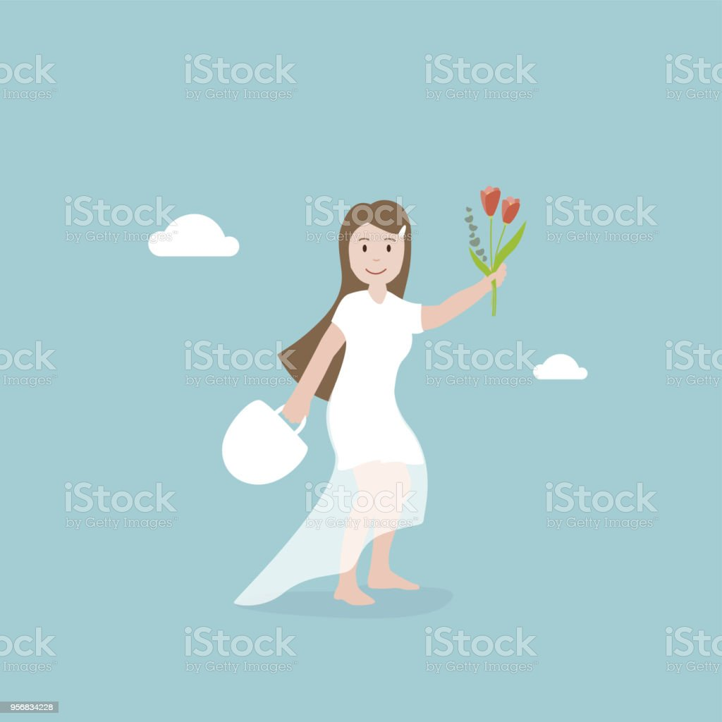 Braut – Vektorgrafik