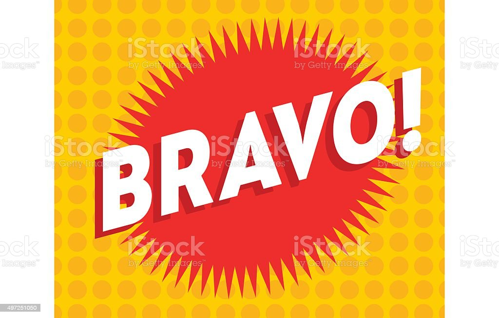 Bravo text on classic pop art design vector illustration vector art illustration