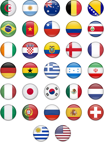 Brazil 2014- Complete  Flag Collection