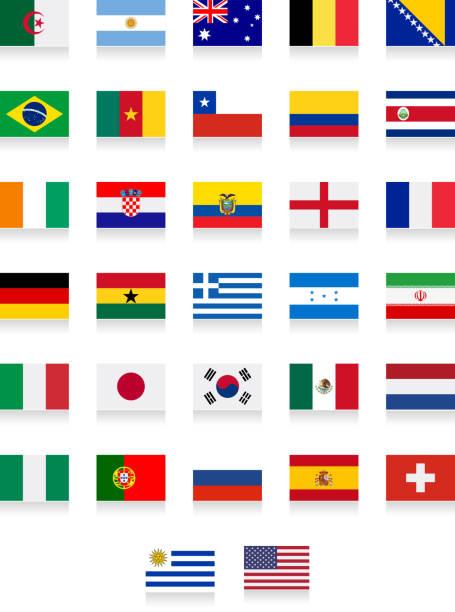 Brasilien 2014 – Vollständige Flagge Kollektion – Vektorgrafik