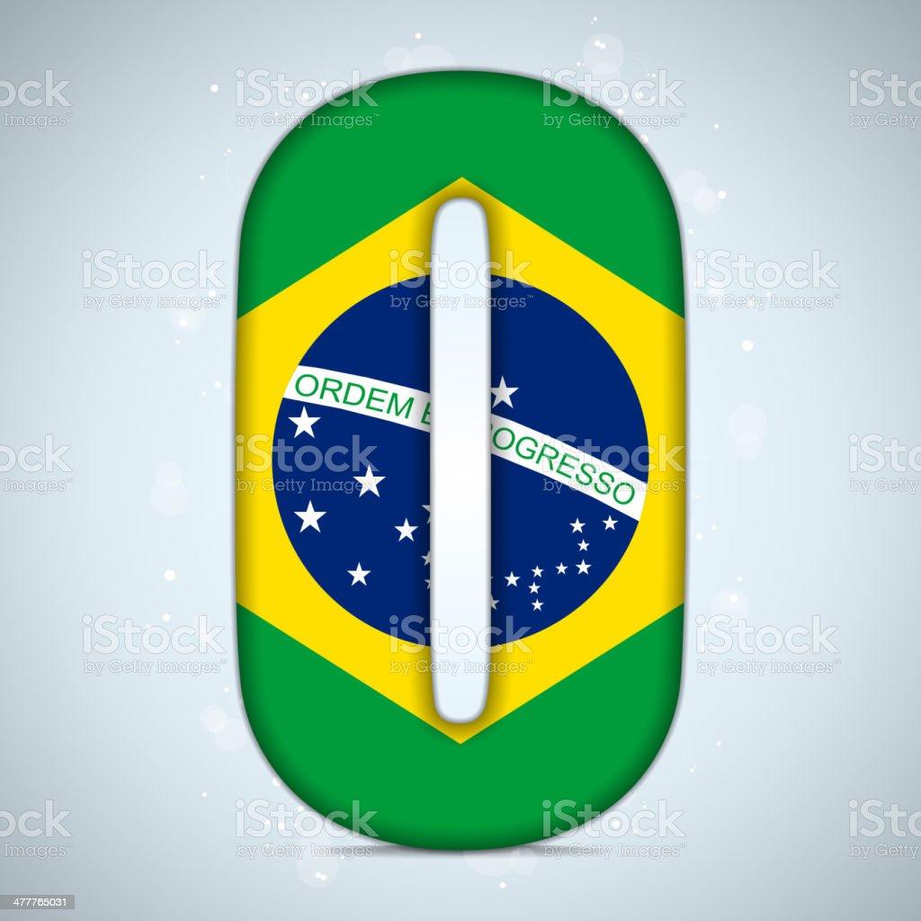 Brazil Alphabet Letters royalty-free stock vector art