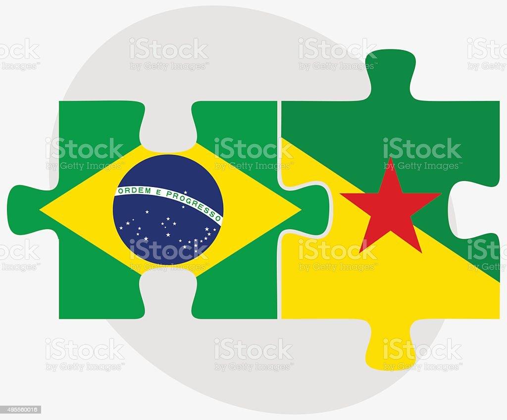 ブラジル仏領ギアナの旗 - 2015...